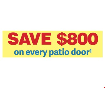"""Save $800 on every patio door - Renewal by Andersen of Colorado is an independently owned and operated affi liate operating in CO. Offer not available in all areas. Discount applied by retailer representative at time of contract execution and applies to purchase of 3 or more windows and/or patio doors. 3% cash discount for payment in full by cash or check applied at time of sale. Cannot be combined with other offers. To qualify for discount offer, initial contact for a free Window and Patio Door Diagnosis must be made and documented on or before 7/31/18, with the appointment then occurring no more than 10 days after the initial contact. No payments and deferred interest for 24 months available to well qualifi ed buyers on approved credit only. Not all customers may qualify. Higher rates apply for customer with lower credit ratings. Financing not valid with other offers or prior purchases. No Finance Charges will be assessed if promo balance is paid in full in 24 months. Renewal by Andersen retailers are independently owned and operated retailers, and are neither brokers nor lenders. Any fi nance terms advertised are estimates only, and all fi nancing is provided by third-party lenders unaffi liated with Renewal by Andersen retailers, under terms and conditions arranged directly between the customer and such lender, all subject to credit requirements. Renewal by Andersen retailers do not assist with, counsel or negotiate fi nancing, other than providing customers an introduction to lenders interested in financing. Window Warmth, LLC d/b/a Renewal by Andersen of Colorado. """"Renewal by Andersen"""" and all other marks where denoted are marks of Andersen Corporation. ©2018 Andersen Corporation. All rights reserved. ©2018 Lead Surge LLC. All rights reserved."""
