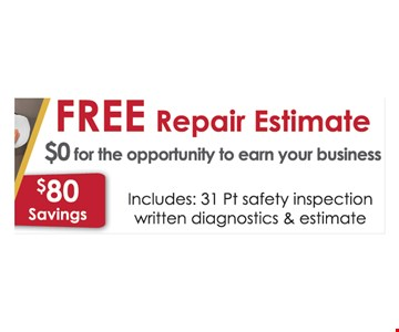 Free repair estimate