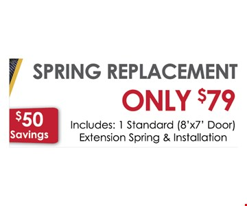 Spring replacement special $79