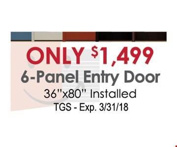 Only $1499 6-panel entry door