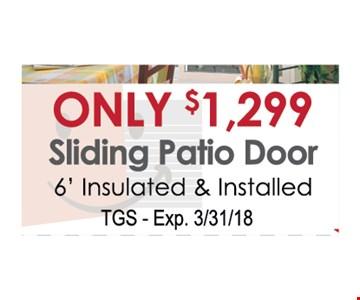 Only $1299 sliding patio door