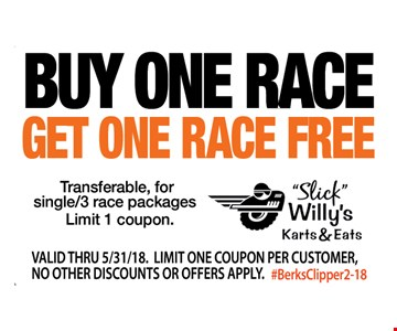 Buy One Race, Get One Race Free