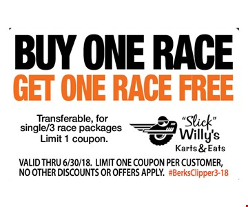 Free Race With The Purchase Of A Race