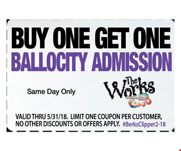 Buy One, Get One Ballocity Admission