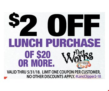 $2 Off Lunch Purchase