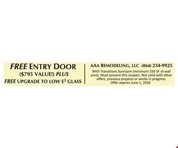 Free entry door