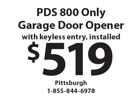 Exceptional PRECISION GARAGE DOORS: $519 PDS 800 Only Garage Door Opener With Keyless  Entry, Installed