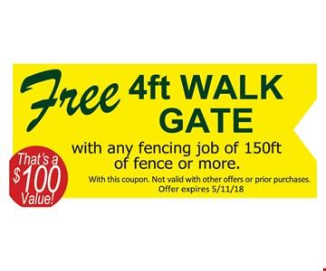 Free 4ft walk gate