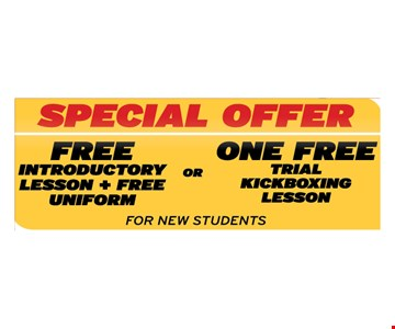 Free introductory lesson and free uniform