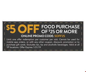 Limit one offer redemption per customer per visit. Cannot be used for