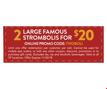 online promo code : TWOBOLI