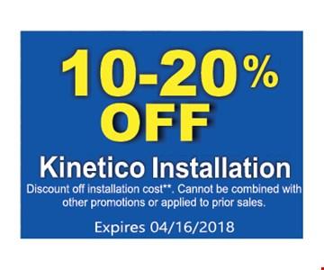 10-20% Off Kinetico Installation