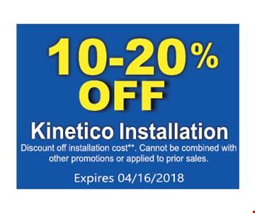 10-20% Kinetico Installation