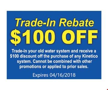 trade-in Rebate $100 OFF