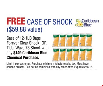 Free case of shock with purchase.