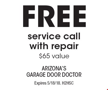 FREE service call with repair ($65 value). Expires 5/18/18. H2HSC  Limit one coupon per household, service, or invoice. Residential only. May not be combined with any other offer. Service area and other restrictions may apply, call for details.