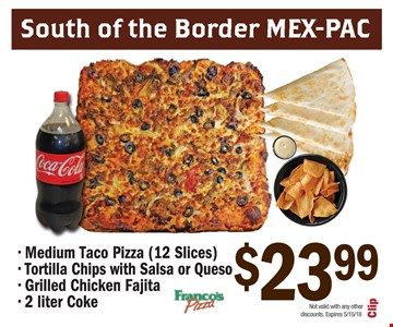 South of the border Mex-Pac for $23.99
