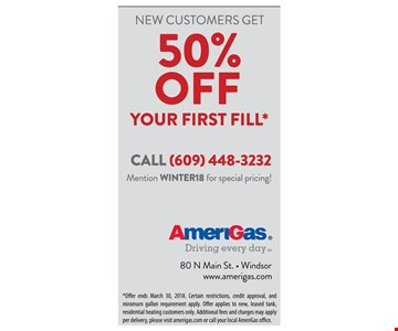 50% off your first fill
