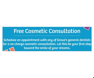 Free cosmetic consultation.