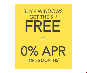 Buy 4 windows get the 5th free