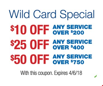 Up to $50 off any service.