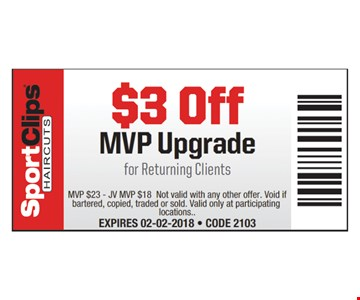 $3 Off MVP Upgrade