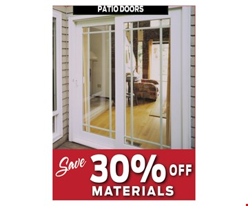 Save 30% off materials