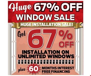 Get 67% off installation on unlimited windows