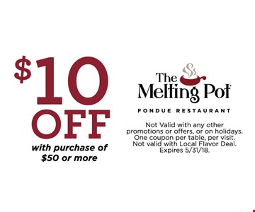 $10 Off any purchase of $50 or more.
