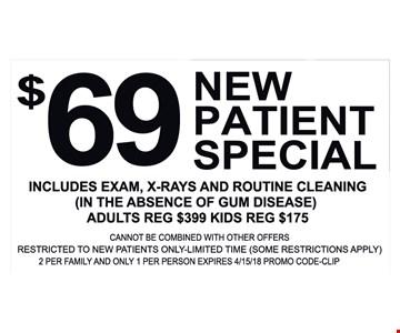 $69 New Patient Special