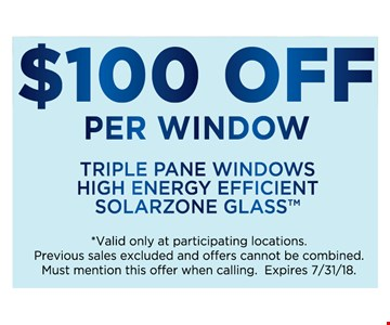 Triple plane Windows high energy efficient solarzone glass