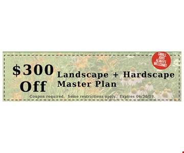 $300 Off landscape + hardscape master plan