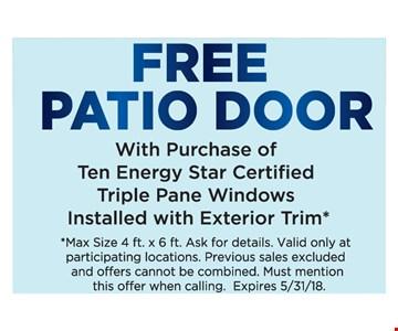 Free patio door