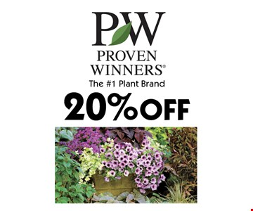 20% OFF The #1 Plant Brand. With coupon. Not valid with other offers or prior purchases. Offers expire 6-15-18
