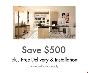 Save $500 plus free delivery and installation