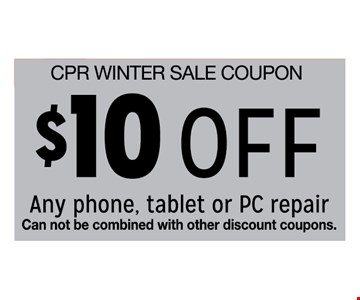 $10 off any phone, tablet or PC repair