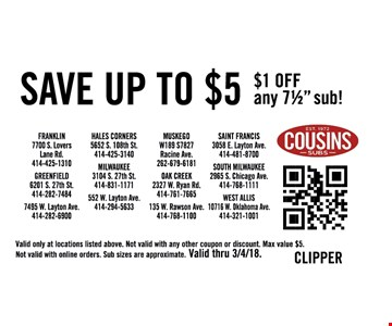 $1 off any 71/2