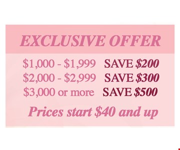 Exclusive Offer! Save Up to $500