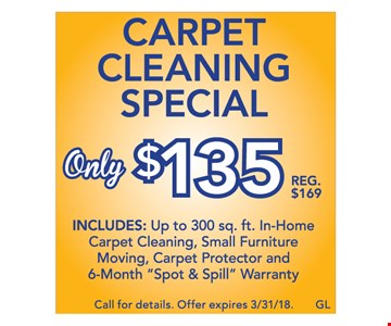 Carpet Cleaning Special $135