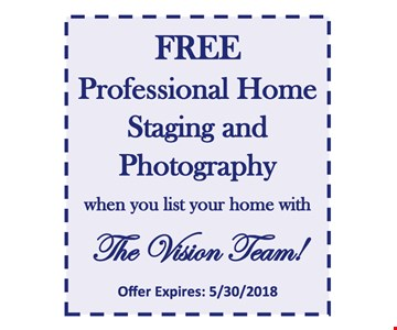 Free staging and photography.