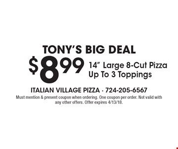 Tony's Big Deal $8.99 14