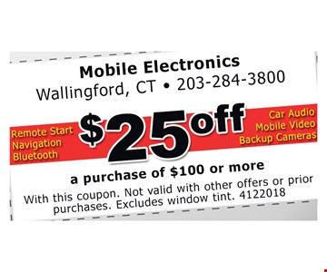 With this coupon. Not valid with other offers or prior purchases. Excludes window tint. 4122018