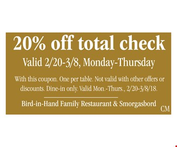 20% Off Total Check