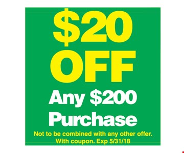 $20 off any $200 purchase
