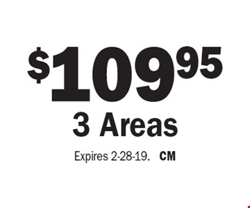 $109.95 3 Areas. Expires 2-28-19. CM