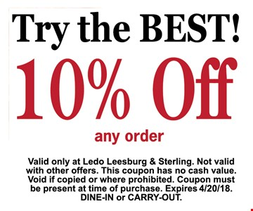 try the best  -10% OFF any order