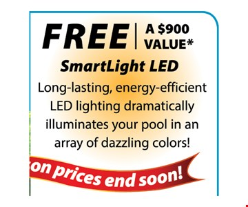 FREE SMARTLIGHT LED WITH A NEW POOL -