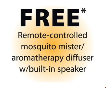 Free remote-controlled mosquito mister