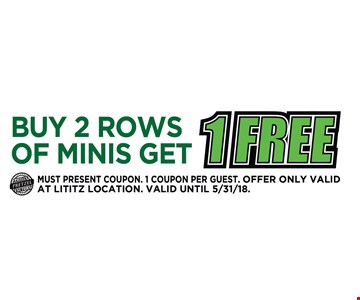 Buy 2 Rows of Minis Get 1 Free