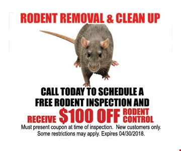 $100 off rodent control